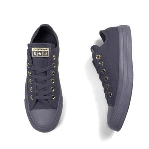 Converse Chuck Taylor Carbon Canvas and Gold NEW